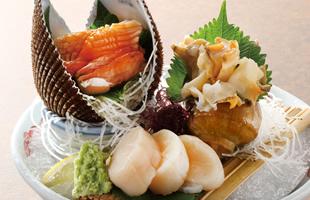おすすめ貝類の三種盛