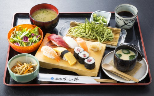 にぎり寿司+そばセット