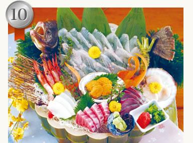 おすすめ活魚と刺身七点盛