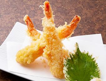 大海老天ぷら三本盛